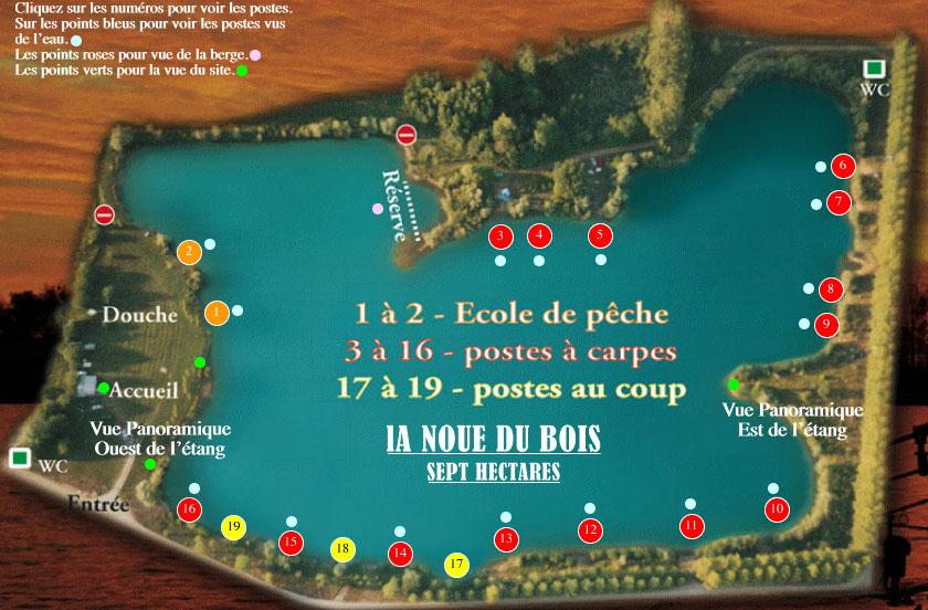 étang de la Noue du Bois se situe à moins d'une heure de Paris