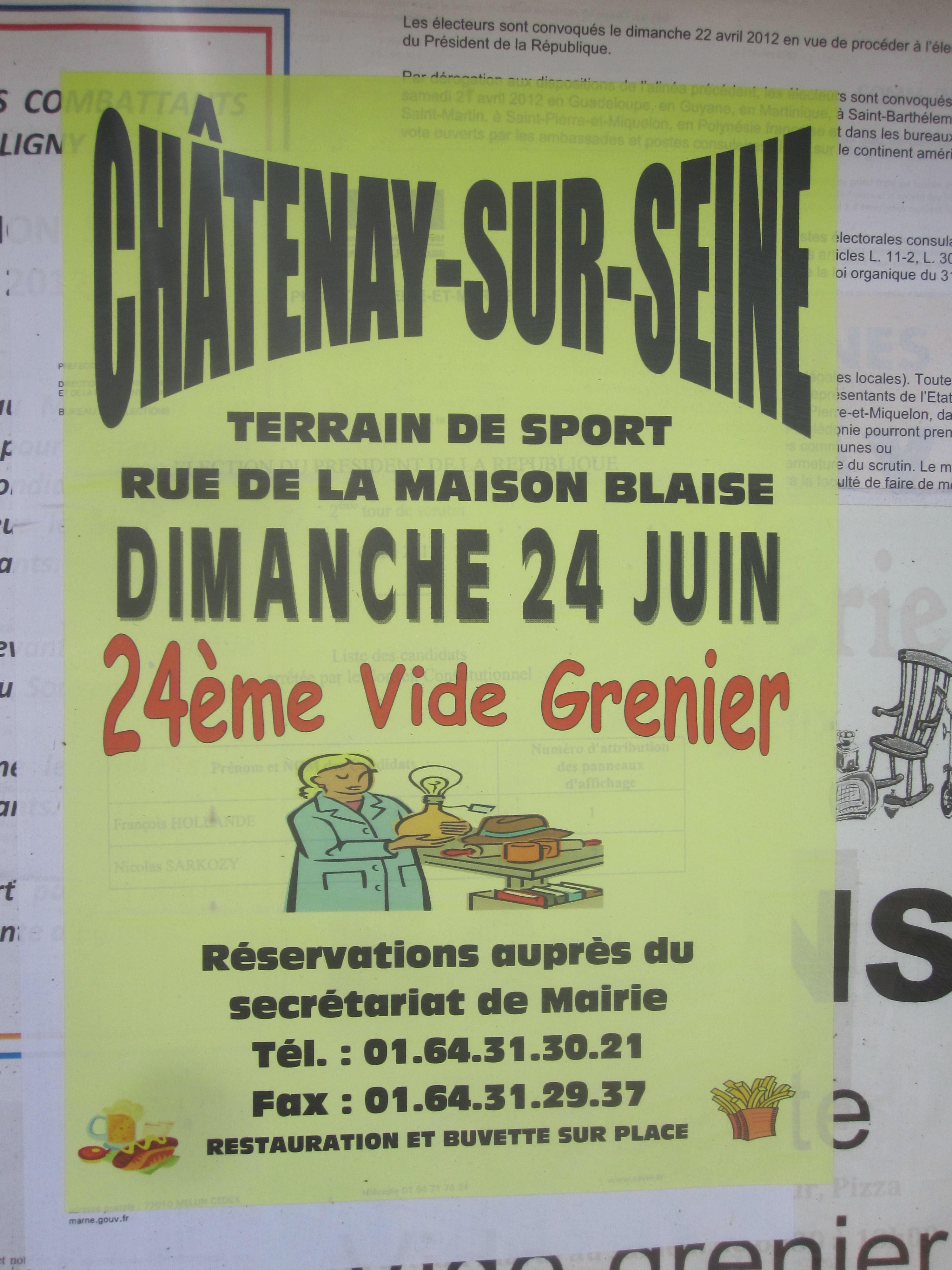 Ch tenay sur seine vide grenier 24 06 2012 la p pini re - Vide grenier seine et marne ...